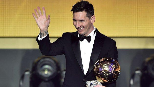 Lionel Messi zum 5. Mal Weltfußballer des Jahres (Bild: AFP)