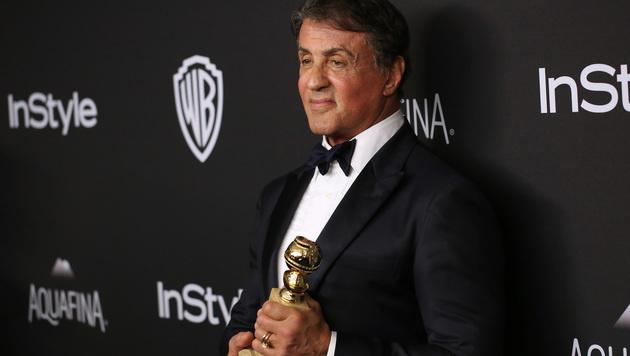 Mit dem Golden Globe als bester Nebendarsteller ging Sylvester Stallone nach Hause. (Bild: Matt Sayles/Invision/AP)