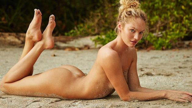 Candice Swanepoel zeigt sich mal wieder ganz nackt. (Bild: Viennareport)
