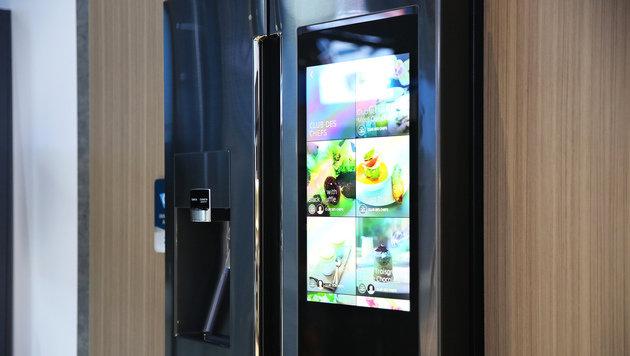 Das ist Samsungs Kühlschrank der Zukunft (Bild: flickr.com/Samsung Newsroom)