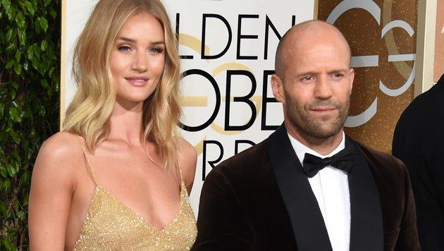 Jason Statham (48) und Rosie Huntington-Whiteley (28) sind verlobt. (Bild: AFP)