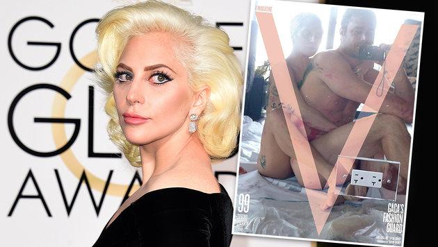 Lady Gaga: Postkoitales Nacktselfie (Bild: AFP, V Magazine)