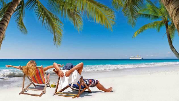 Sonne, Sandstrand und Meer - für viele der ultimative Traumurlaub! (Bild: Fotolia)