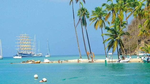 """Die Karibik liegt im Trend - ebenso wie Kreuzfahrten, z. B. mit der """"Royal Clipper"""". (Bild: Fotolia)"""