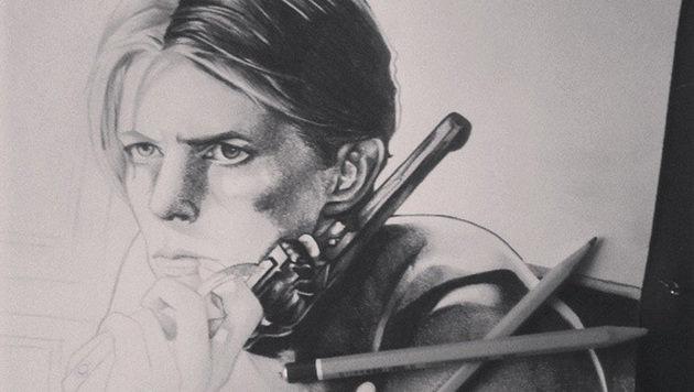 """""""So erweisen Künstler David Bowie die letzte Ehre (Bild: BP)"""""""