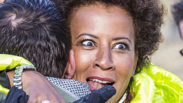 """Arabella: """"Ja, der Christian – da scheint ihn wohl die Wiedersehensfreude etwas übermannt zu haben."""" (Bild: ATV/ERNST KAINERSTORFER)"""
