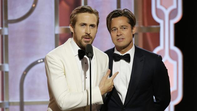 Brad Pitt überraschte bei den Golden Globes mit seinem jungen Aussehen. (Bild: AP)