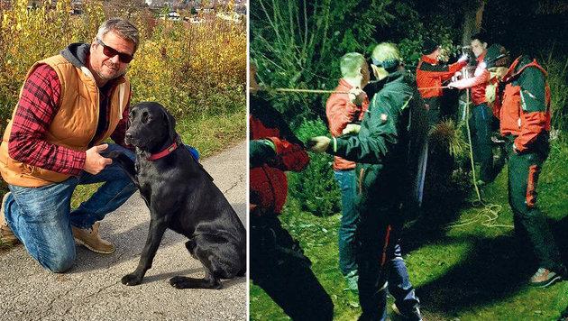 Hund von Landesrat abgestürzt: Dramatische Rettung (Bild: Köfer)