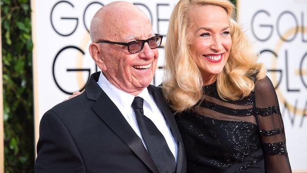 Jerry Hall hat sich mit Rupert Murdoch verlobt (Bild: Viennareport)
