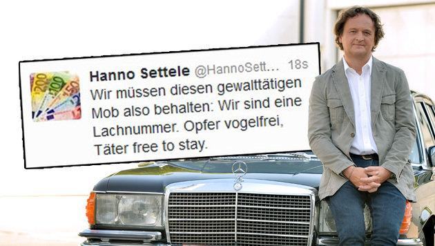 Hanno Setteles scharfe Kurznachricht von Montagmittag (Bild: Twitter)