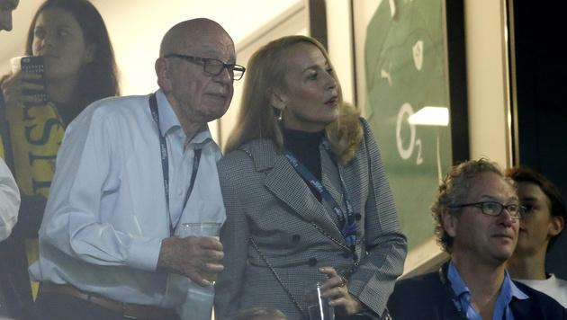 Jerry Hall mit Rupert Murdoch (Bild: AP)