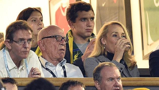 Jerry Hall und Rupert Murdoch (Bild: AFP)