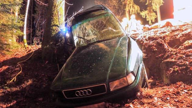 49-Jähriger mit Auto gegen Baum geprallt - tot (Bild: Werner Kerschbaummayr/foto-kerschi.at)