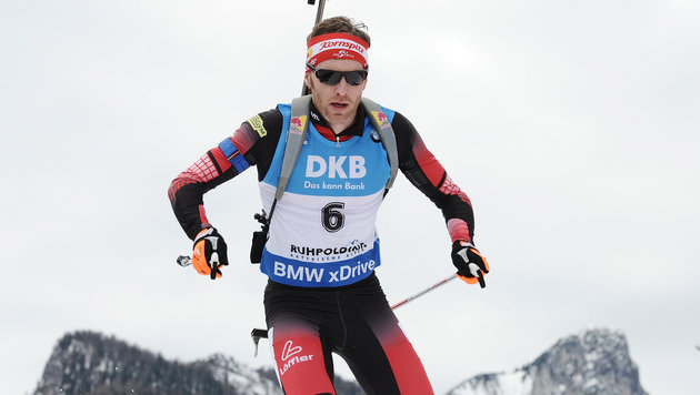 Biathlet Simon Eder Sechster in Antholz (Bild: APA/dpa/Angelika Warmuth)