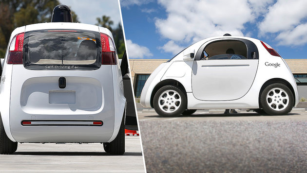 Fahrer verhinderten Unfälle mit Googles Robo-Autos (Bild: AP)