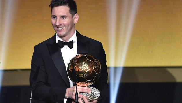 Lionel Messi, mehrfacher Weltfußballer des Jahres (Bild: APA/AFP/FABRICE COFFRINI)