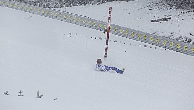 ÖSV-Vorspringer Müller am Kulm schwer verletzt (Bild: Sepp Pail)