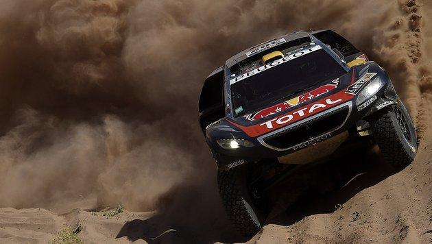 Rallye Dakar: Peterhansel vor Gesamterfolg (Bild: APA/AFP/FRANCK FIFE)