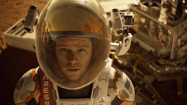 "Mat Damon in ""Der Marsianer"" (Bild: AP)"