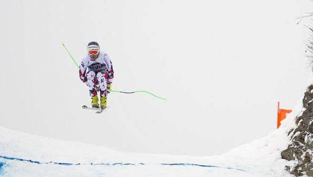 Kriechmayr im Training nur von Svindal geschlagen (Bild: APA/AFP/OLIVIER MORIN)