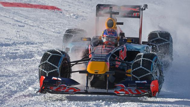 Spektakulär! Formel 1 am Hahnenkamm in Kitzbühel (Bild: GEPA)