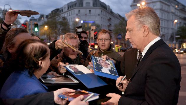 Alan Rickman besuchte anlässlich einer Premiere im April 2015 Wien. (Bild: APA/HERBERT NEUBAUER)