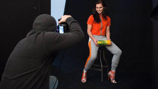Anna Fenninger stellt Modelqualitäten unter Beweis (Bild: WWP)