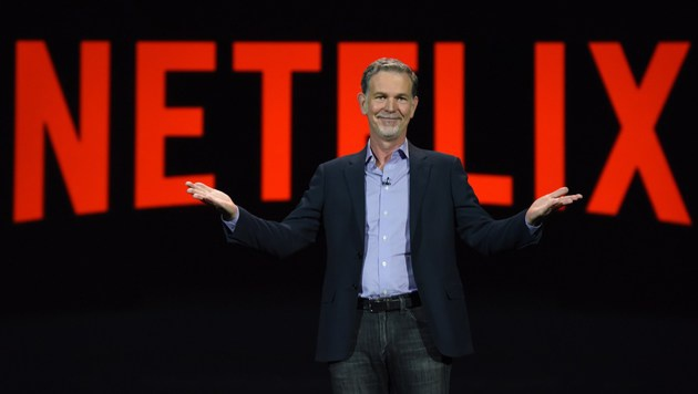 Netflix-Chef Reed Hastings (Bild: APA/AFP/ROBYN BECK)