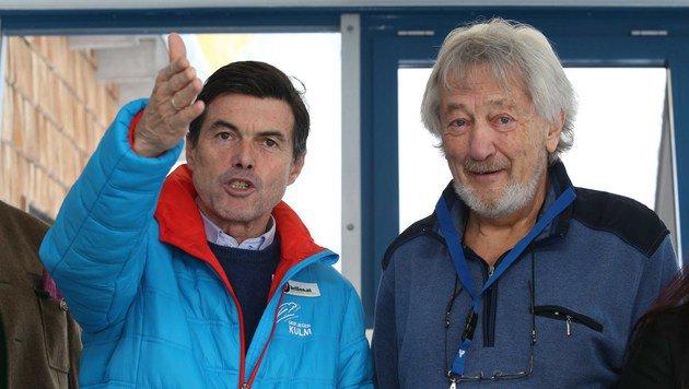 Hupo Neuper lud den Experten für Veränderungen im Wintertourismus, Helmut Detter (r.), zum Vortrag. (Bild: Jürgen Radspieler)