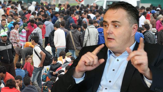 """""""Für Wirtschaftsflüchtlinge kein Recht zu kommen"""" (Bild: APA/Helmut Fohringer, Peter Tomschi)"""