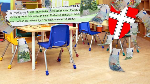 "Hunderte Millionen in Kindergärten versickert (Bild: thinkstockphotos.de, ""Krone"")"