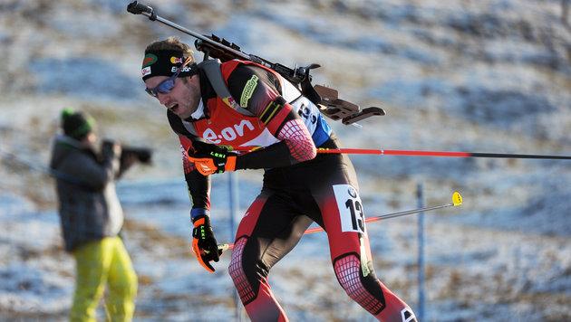 Podestplatz für Biathlon-Herren in Ruhpolding (Bild: APA/BARBARA GINDL)