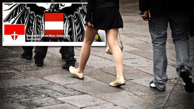 Selbst ernannte Bürgerwehr will Wien schützen (Bild: facebook.com, thinkstockphotos.de)