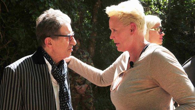 Schauspieler Rolf Zacher und Hollywood-Star Brigitte Nielsen (Bild: RTL)
