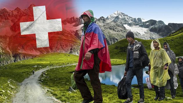 Schweizer Dorf kauft sich von Flüchtlingen frei (Bild: thinkstockphotos.de, APA/ERWIN SCHERIAU (Symbolbild))