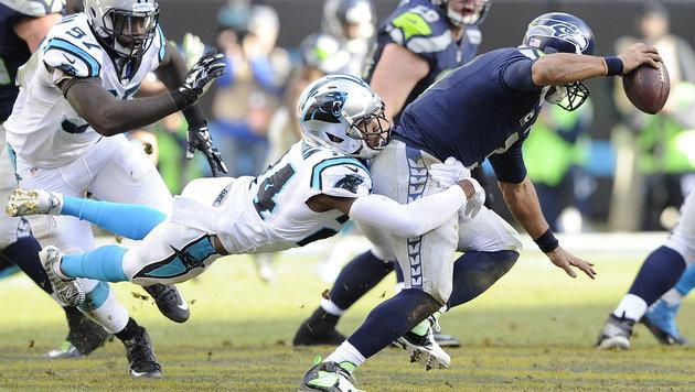 Carolina Panthers zittern sich ins NFL-Halbfinale (Bild: AP)