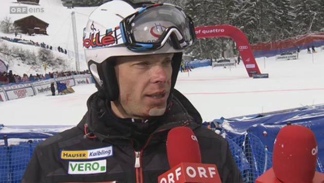 Sykora bei Kamerafahrt gestürzt - ein Zahn fehlt (Bild: ORF)