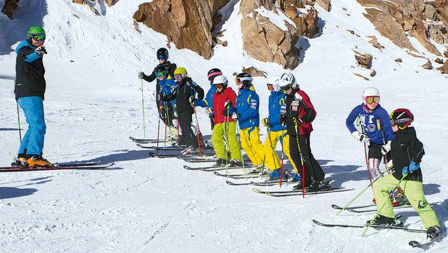 Nachwuchs-Training am Gletscher (Bild: Pitztaler Gletscherbahn)