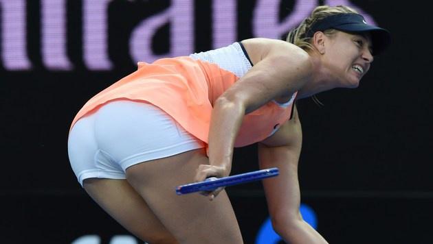 Feiert Scharapowa schon im Jänner ihr Comeback? (Bild: APA/AFP/GREG WOOD)