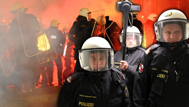 Akademikerball: Polizei sichert Beweise per Video (Bild: Andi Schiel, APA/HERBERT P. OCZERET)