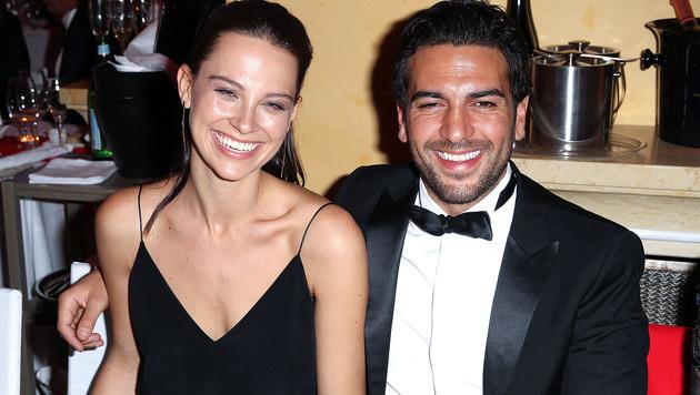 """Elyas M""""Barek mit seiner Freundin Julia beim Filmball (Bild: Viennareport)"""
