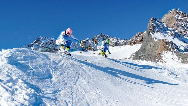 Skicross wird immer beliebter: Das Pitztal bietet Schnupperkurse an. (Bild: Pitztaler Gletscherbahn)