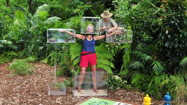 Jenny bei der Dschungelprüfung (Bild: RTL)