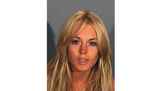Lindsay Lohan war Stammgast am Polizeirevier. So gibt es von ihr gleich mehrere Polizeifotos. (Bild: Viennareport)