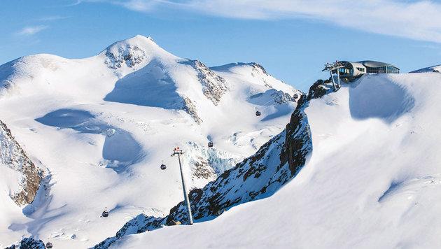 Die Seilbahnstation liegt auf 3440 Meter. (Bild: Pitztaler Gletscherbahn)