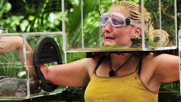 Helena bekommt bei der Dschungelprüfung einen Weinkrampf. (Bild: RTL)