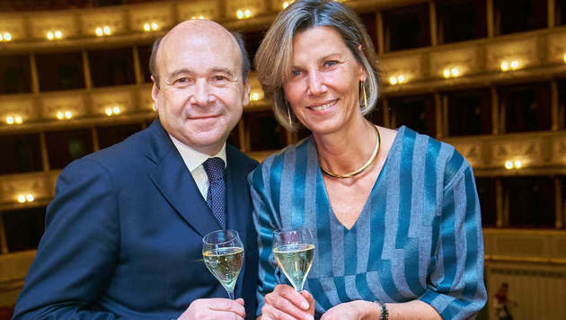 Desiree Treichl-Stürgkh mit Dominique Meyer (Bild: Starpix/Alexander TUMA)