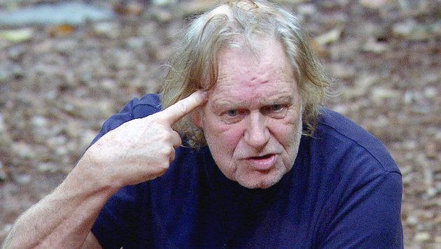 Gunter Gabriel hat das Dschungelcamp verlassen! (Bild: RTL)