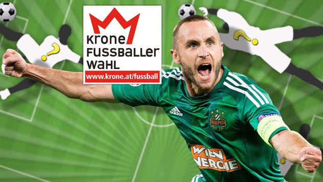 """""""Krone""""-Fußballerwahl: Steffen bläst zum Angriff (Bild: APA/GEORG HOCHMUTH, thinkstockphotos.de, krone.at-Grafik)"""