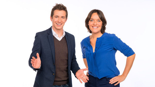 """Lukas Schweighofer und Eva Pölzl moderieren """"Guten Morgen Österreich"""" (Bild: ORF)"""